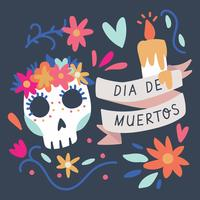 Colorful Background For The Day Of The Dead