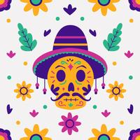 Day of the Dead Background Vector