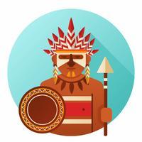 Vector de la gente indígena