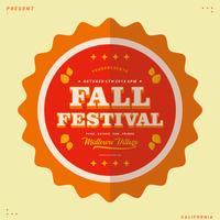 Vetor de festival de outono