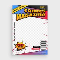 modèle de couverture de bande dessinée magazine