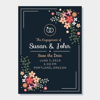 Engagement Invitation Template Vector