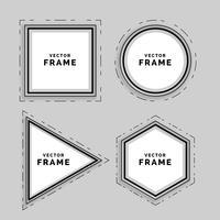 conjunto de marcos de líneas geométricas abstractas