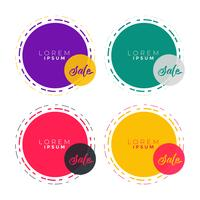 abstract circle banner label with text space