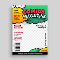 comic book cover page template design