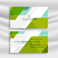 abstract green and white business card