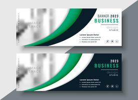 conception de bannière de business vert moderne