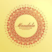 schöne indische Mandala Dekoration Hintergrund
