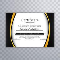 Modelo de certificado Premium prêmios fundo de diploma