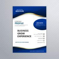 Vector de plantilla de folleto de negocio elegante onda moderna