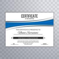 Beautiful certificate template design with wave