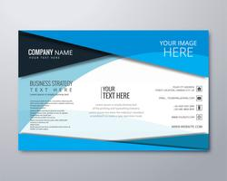 Elegant business brochure design template vector