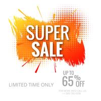 Modern colorful super sale template background illustration