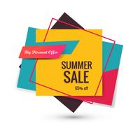 Elegant colorful sale banner design