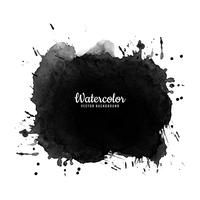 Vecteur de conception abstraite splash aquarelle noire