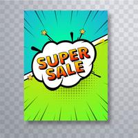 Comic book colorful pop art brochure template