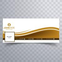 Abstract facebook banner wave template design