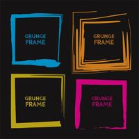 Abstract colorful grunge frame set design