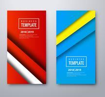Banners de colores abstractos conjunto vector de plantilla
