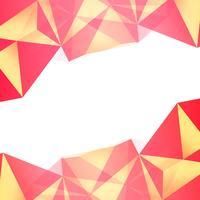 Vector de fondo abstracto colorido polígono