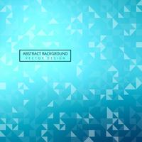 Modern bright blue triangle geometric background vector