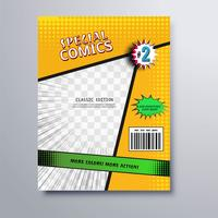 Beautiful special comic book cover template vector