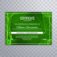 Abstract green certificate template background