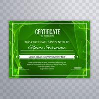 Fondo de plantilla de certificado verde abstracto