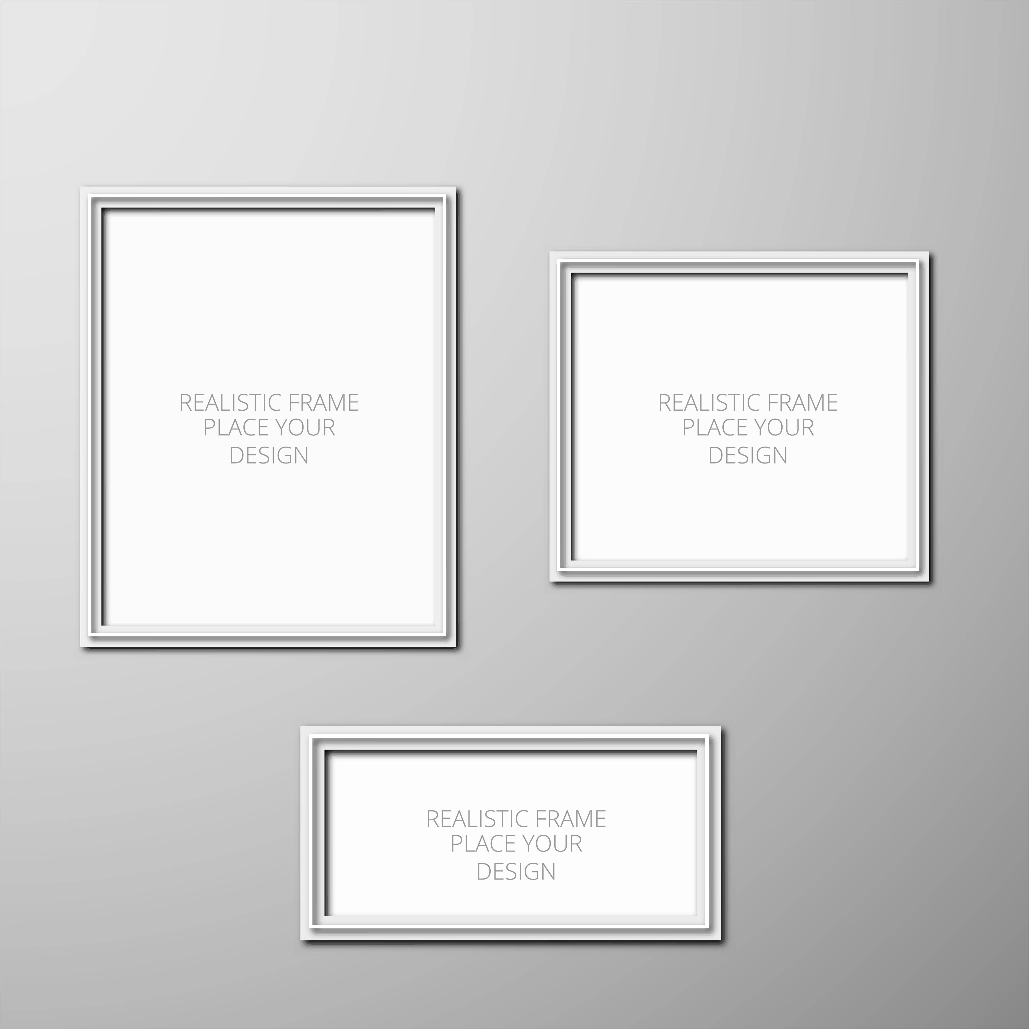 Realistic photo frame template design - Download Free Vector Art ...