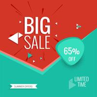 Abstract big sale background vector