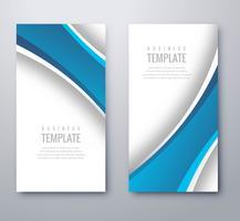 Diseño de plantilla de banner de onda azul elegante