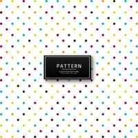 Moderno padrão pontilhado colorido
