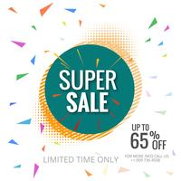 Super sale colorful poster template background illustration