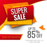 Modern colorful super sale template design vector