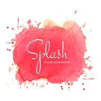Watercolor colorful splash design