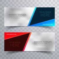 Banners creativos coloridos hermosos set vector de plantilla
