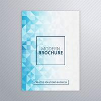 Abstract business brochure blue polygon template vector
