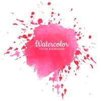 Abstract pink watercolor splash design
