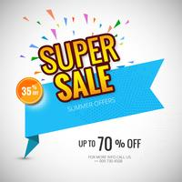 Super sale banner poster template background