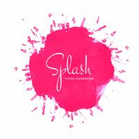 Abstract roze aquarel splash ontwerp