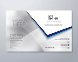 Vector de plantilla de folleto de negocio moderno