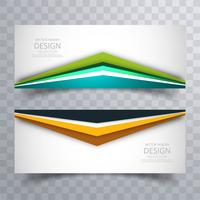 Abstract creative colorful bright banners set vector