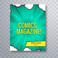 Comic magazine cover template colorful background