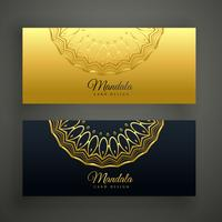 stylish set of mandala banners