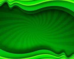 Modern green stylish business wavy background