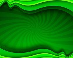 Wellenförmiger Hintergrund des modernen grünen stilvollen Geschäfts