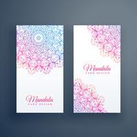 design de cartão mandala colorida linda