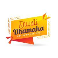 bannière de vente fou de diwali avec détails de l'offre