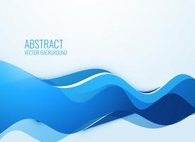 stylish blue wavy abstract background