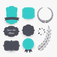 beautiful set of wedding decoration elements